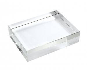 Fermacarte rettangolare cristallo cm.8x10x3h