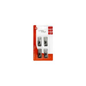 HOME Pack 4 Hooks Stainless Rectangular Stickers Wall Hooks Top Italian Brand