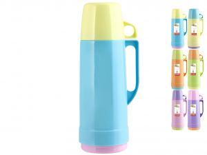 HOME Pack 6 Colors Thermos 1 Lt Camping Picnic Exclusive Design Made in Italy
