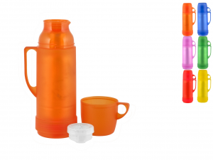 HOME Pack 6 Thermos Transparent colors Camping Picnic Exclusive Italian Design