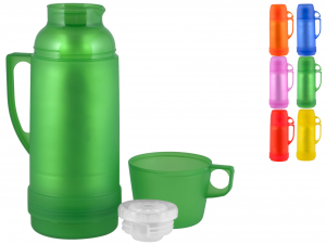 HOME Pack 6 Thermos Transparent colors Lt1 Camping Picnic Top Italian Brand