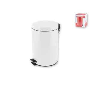 HOME Stainless Steel Trash Can With Pedal Lt5 Bins Baskets Top Italian Brand