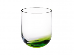 HOME Vase Glass 15.4 Cm Green Background  Exclusive Brand Design Made in Italy