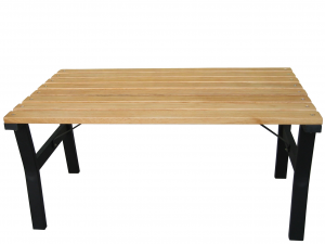HOME Wooden Steel Table Cm 92X57Xh.46 Fabrics For The Kitchen Top Italian Brand