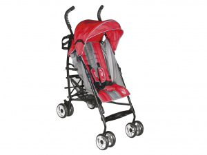 LULABI Greg Stroller Red/Gray Bedroom Baby Exclusive Brand Design Made in Italy