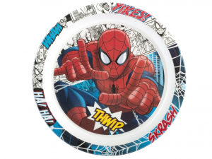 LULABI Pack 6 Plate Melamine Spiderman Piano 21.5 Exclusive Italian Design Brand