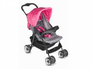 LULABI Stroller Gray/Fuchsia Lolli Bedroom With Tray Baby Top Italian Brand