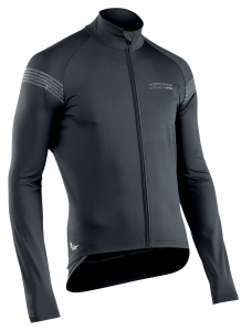 NORTHWAVE Man cycling light jacket l/s EXTREME H20 - total protection black