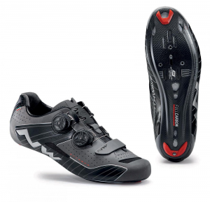 NORTHWAVE Man road cycling shoes EXTREME black reflective