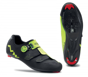 NORTHWAVE Man road cycling shoes PHANTOM CARBON black/fluo yellow
