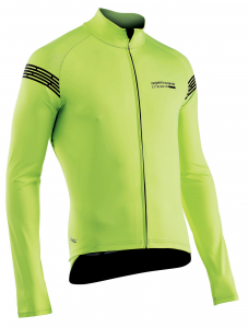 NORTHWAVE Men's light long jacket EXTREME H20 - fluo yellow total protection