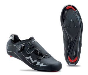 NORTHWAVE Men's road cycling shoes black FLASH TH