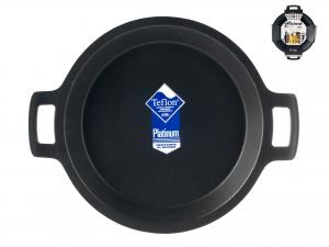 PINTI INOX Paella 2 Handles Efficient Nonstick Cm32 Kitchenware Italian Design