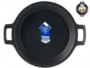 PINTI INOX Paella 2 Handles Efficient Nonstick Cm40 Kitchenware Italian Design