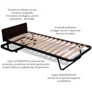 Brandina Pieghevole A Scomparsa.Kit Letto Verticale A Scomparsa Con Materasso Memory Foam 80x190