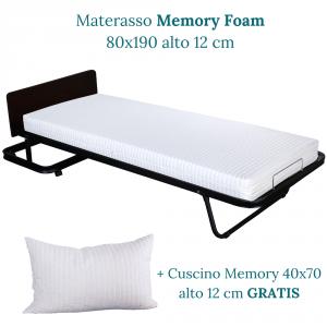 Kit Letto Verticale a Scomparsa con Materasso Memory Foam 80x190 ...
