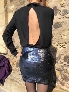 Mini Abito Jenè camicia e paillettes