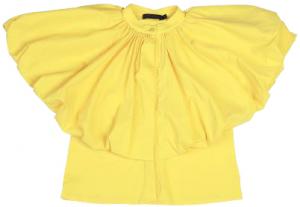 Camicia gialla con top volant