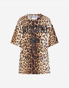 T-shirt maxi  maculata moschino couture