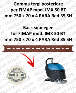 Back Squeegee Rubber for Scrubber Dryer FIMAP mod. IMX 50 BT