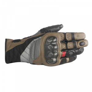 GUANTI MOTO ALPINESTARS BELIZE DRYSTAR BLACK TOBACCO BROWN RED COD. 3526718