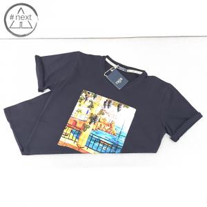 Fefè Glamour - T-shirt cotone e seta - Amalfi - Navy - SS 2019