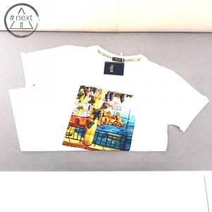 Fefè Glamour - T-shirt cotone e seta - Amalfi - Bianco - SS 2019