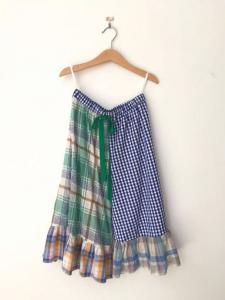 Pantalone multicolore con laccio verde