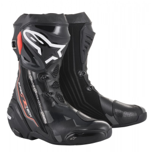 STIVALI MOTO RACING ALPINESTARS SUPERTECH R BLACK DARK GRAY RED FLUO COD. 2220015