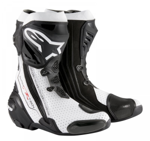 STIVALI MOTO RACING ALPINESTARS SUPERTECH R BLACK WHITE VENTED COD. 22200152