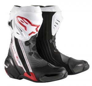 STIVALI MOTO RACING ALPINESTARS SUPERTECH R BLACK RED WHITE COD. 2220015