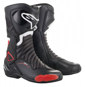STIVALI MOTO RACING ALPINESTARS SMX-6 V2 BLACK RED COD 2223017
