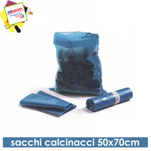 Sacchi per calcinacci blu 50x70 cm rotolo 15pezzi spessore 110my