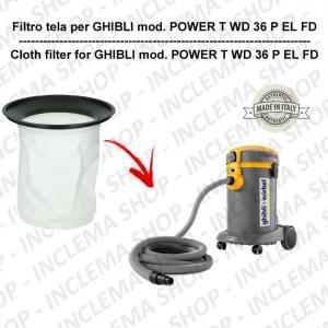 POWER T WD 36 P EL FD Filtre Toile pour aspirateur GHIBLI