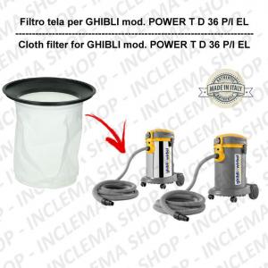 POWER T D 36 P/I EL Filtre Toile pour aspirateur GHIBLI