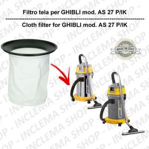 AS 27 P/IK Filtre Toile pour aspirateur GHIBLI