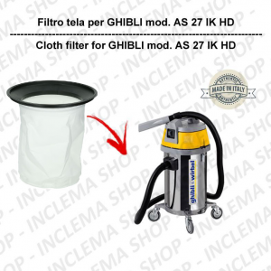 AS 27 IK HD Filtre Toile pour aspirateur GHIBLI