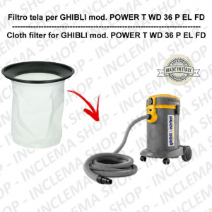 POWER T WD 36 P EL FD Canvas Filter for vacuum cleaner GHIBLI