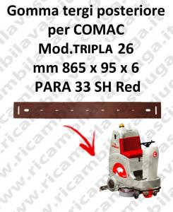 TRIPLA 26 B squeegee rubber back Comac