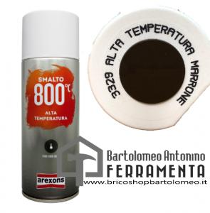 Smalto Spray Bomboletta alta temperatura marrone 3329