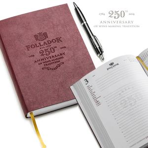 Agenda 2019 con copertina in pelle e penna a sfera Follador