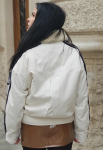 Giubbotto OVERSIZE in Jeans con interno in sherpa vintage ANNI 90 REMAKE kappa