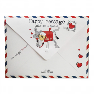 Eic-Pi Happy People Fantafedera 50x80 Happy Message SHUT UP&KISS ME
