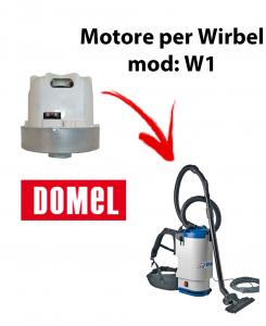 Moteur d'aspiration Domel pour aspirateur WIRBEL, modèle W1