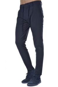 Pantalone uomo Hosio in lana con coulisse blu 671e2f20a7e