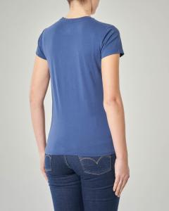 T-shirt blu manica corta