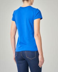 T-shirt blu royal manica corta