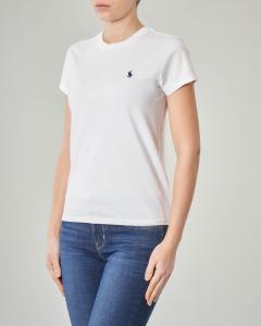 T-shirt bianca manica corta