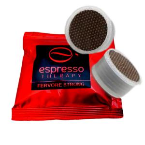 Nuova miscela fervore strong 100 capsule caffè compatibili Lavazza Espresso Point/fap