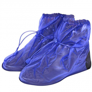 Copriscarpe impermeabili blu  Taglia L 43-44 H25 cm.25h